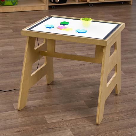 Table pliante à panneau lumineux (Table circulaire)