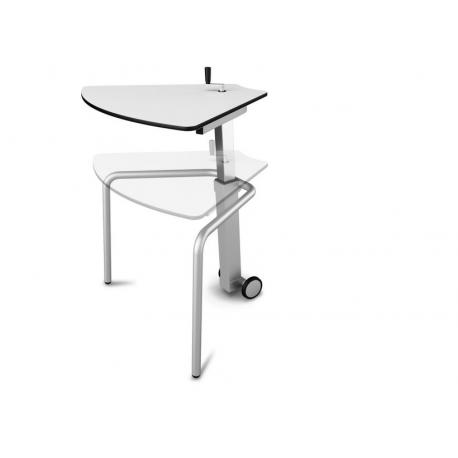 table pour etudiant 60 ajustable mobile en bois compact zioxi