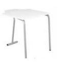 Table pour étudiant 180° en mélaminé 53 cm Zioxi