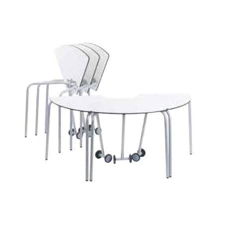 Table pour étudiant 60° mobile et pliable en bois compact 53 cm Zioxi