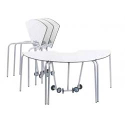 Table pour étudiant 60° mobile et pliable en bois compact 72 cm Zioxi