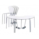 Table pour étudiant 60° mobile et pliable en bois compact 76 cm Zioxi