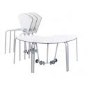 Table pour étudiant 60° extra-large mobile et pliable en bois compact 72 cm Zioxi