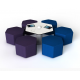 Tabouret pour adulte en forme d'hexagone Zioxi