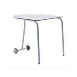 Table pour étudiant 180°  extra-large mobile et pliable en bois compact 76 cm Zioxi