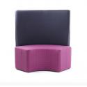 Double siège 90 ° rembourré avec dossier haut Zioxi