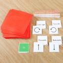 Tapis d'initiation au codage physique et ensemble de cartes