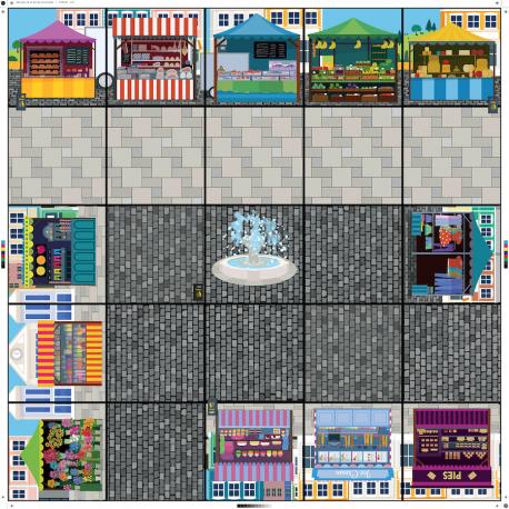 Tapis Place du  marché Bee-Bot