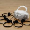 Lecteur CD Easi Listener  avec 6 casques simples