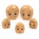 Famille de galets en bois émotions