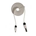 Câble long et fin USB de type A à Micro-B d'un mètre