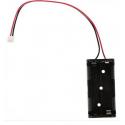 Compartiment pour batterie 2xAAA avec connecteur JST