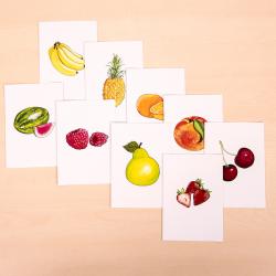 Carte pour porte féerique (fruits)