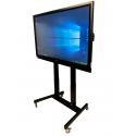 """Solution Complète  - Écran interactif 86"""" 4K sur pied à roulettes réglable en hauteur électriquement."""
