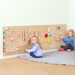 Mur  planche de bois (4 pièces)