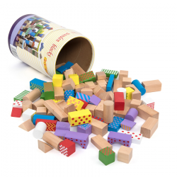 Blocs de construction en bois 100pcs