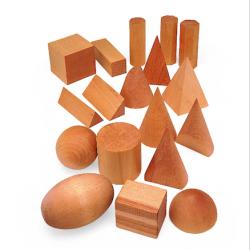 12 formes géométriques en bois massif