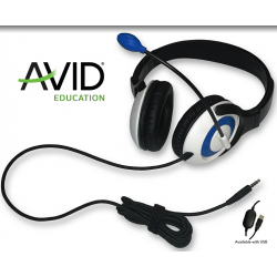 Pack Education de 12 casques Audio AVID AE-55 USB