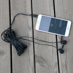 Microphone à double tête pour Smartphone, Tablettes et appareil photos.