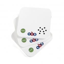 Lot de 3 mini-cartes TalkTime® enregistrables 30 secondes