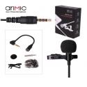 Microphone cravate stéréo