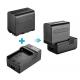Paquet de 2 Proejcteurs à DEL bicolores 660, support et batterie