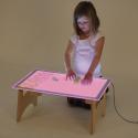 Table pliante à panneau lumineux