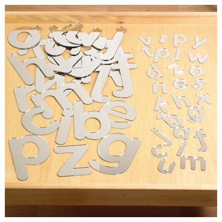 Lettres de l'alphabet en miroir