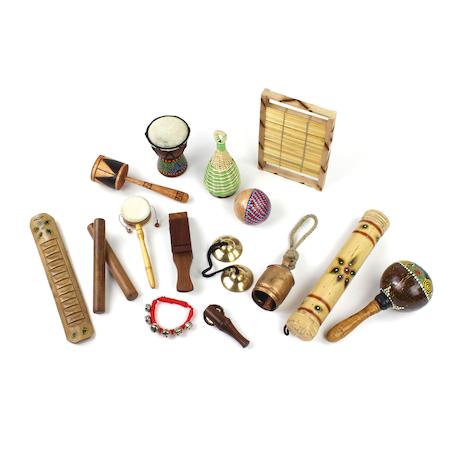 Lot d'instruments multiculturels pour débutants