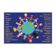 Tapis de sol multiculturel «Bienvenue»