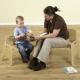 Chaise en bouleau pour l'enseignant