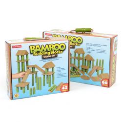 Blocs de construction en bambou 42 pièces