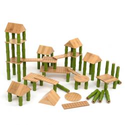 Blocs de construction en bambou 80 pièces