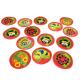 Mini tapis circulaires au motif insectes