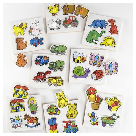 Lot de puzzles en bois à poignées