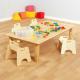 Grande table en bois naturel