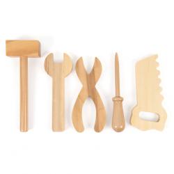 Collection d'outils en bois