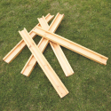 Gouttières rectangulaires plates en bois
