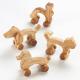Animaux à roulettes en bois