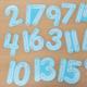 Nombres à tracer en bois