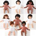 Poupées multiculturelles au corps mou