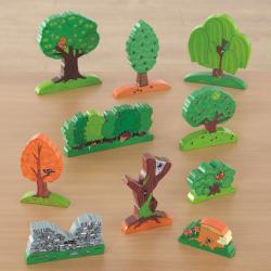Lots d'arbres en bois