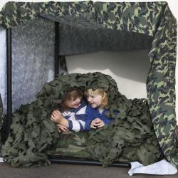 Matériau de fabrication pour cabane au motif camouflage 4m