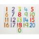 Tuiles de nombres souples et pailletés de 0à20