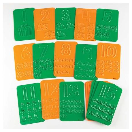 Plaques numérotées à décalquer et compter