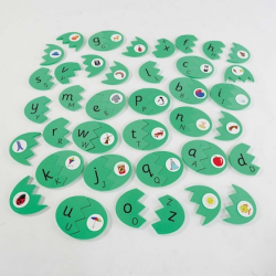 Œufs d'extérieur alphabet