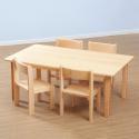 Table rectangulaire classique en hêtre massif: 120cm de longueur