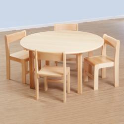 Table ronde classique en hêtre massif