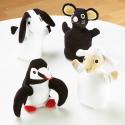 Marionnettes animaux noires et blanches