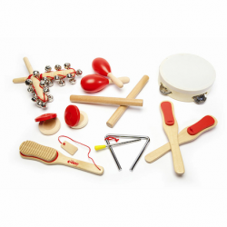 Lot d'instruments à percussion en bois